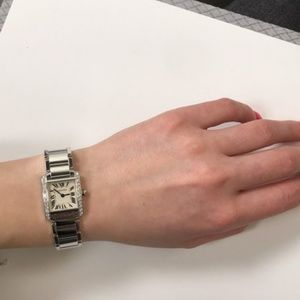 Cartier White Gold Tank Francaise  Ladies Watch
